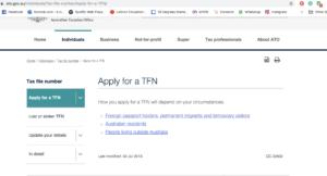 apply for TFN
